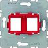 Опорная пластина для модульных разьемов с красной вставкой 2-местная Berker