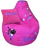 Кресло-груша пуф бескаркасное мягкое Коты, фото 5