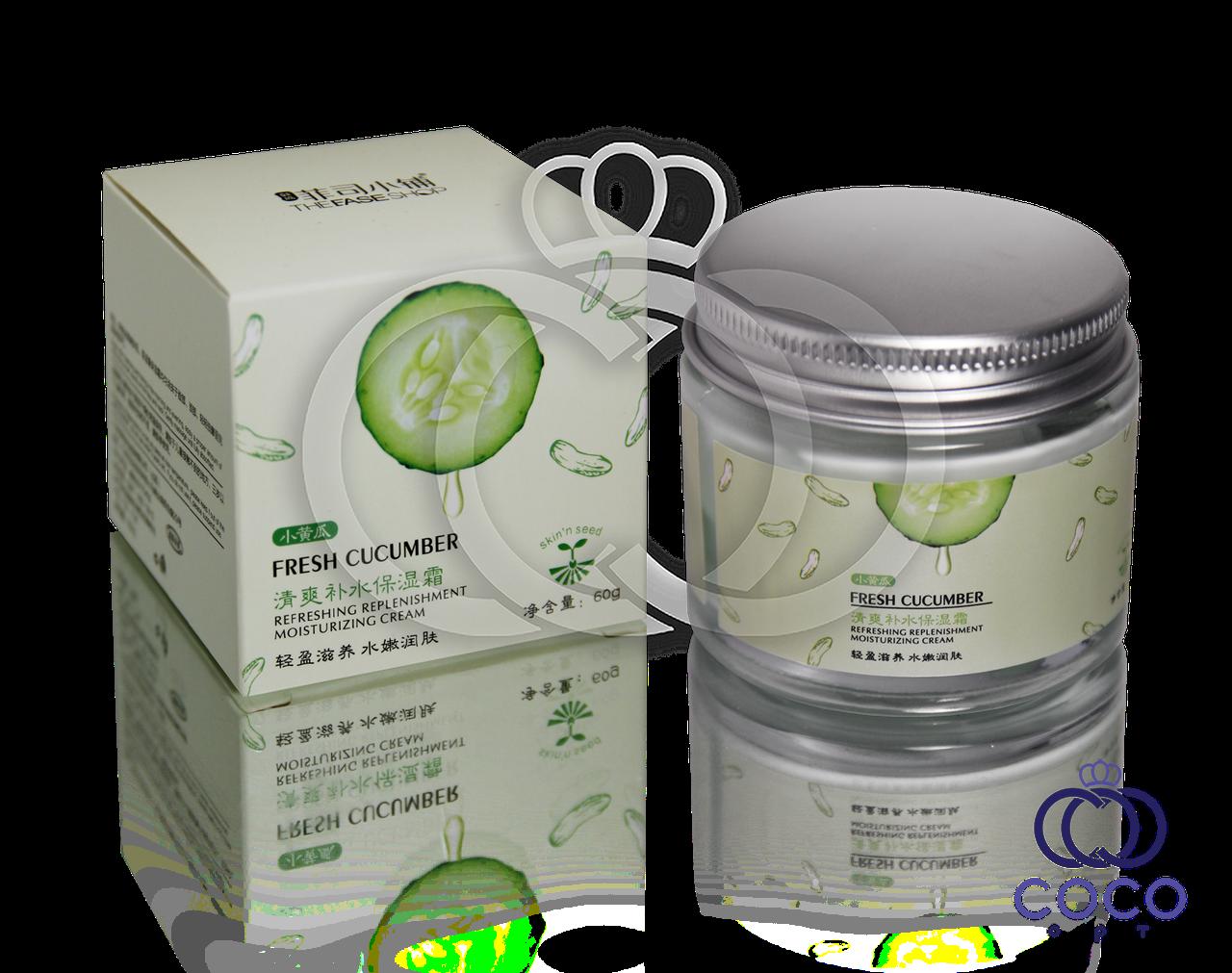 Корейский увлажняющий и освежающий крем Fresh Cucumber с экстрактом огурца