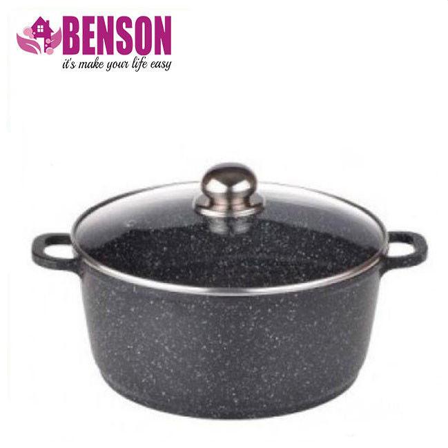 Кастрюля с мраморным антипригарным покрытием Benson BN-309 6.2 л