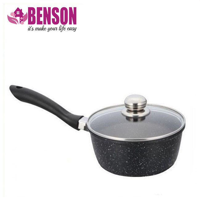 Ковш с крышкой мраморное покрытие Benson BN-303 1.4 л | Набор посуды