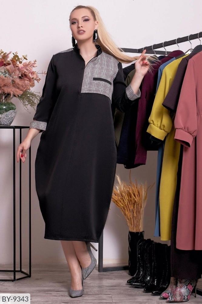 Стильное платье     (размеры 48-58) 0215-86