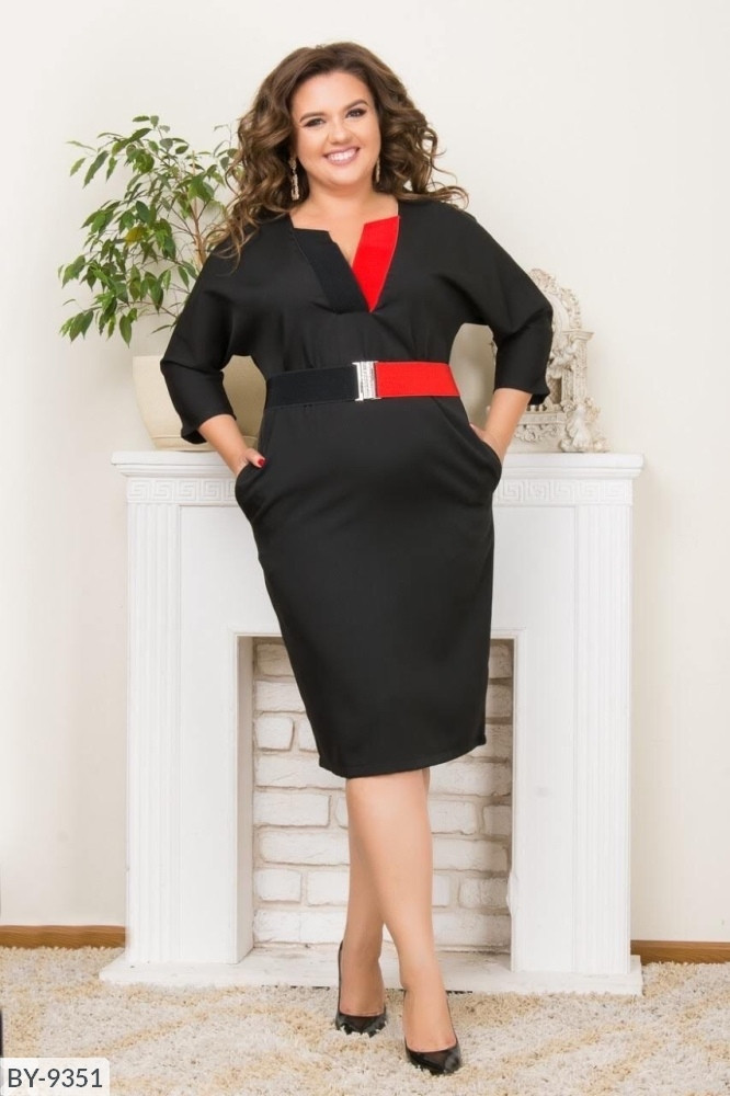 Стильное платье     (размеры 48-58) 0215-87