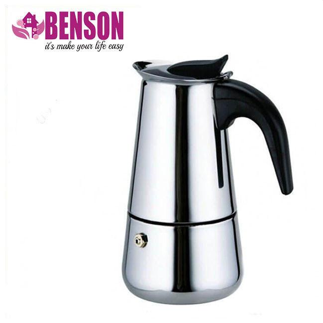 Гейзерная кофеварка из нержавеющей стали (индукция) - 4 чашки Benson BN-152