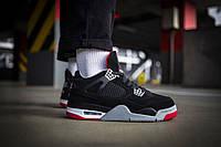 Мужские кроссовки Nike Air Jordan 4 Retro Bred ( Реплика )