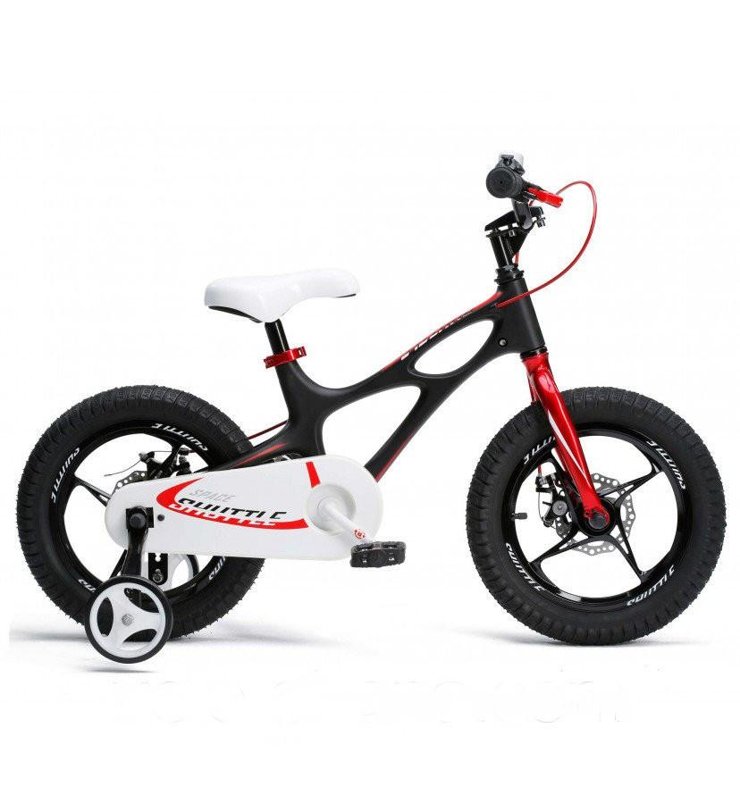 """Детский велосипед RoyalBaby SPACE SHUTTLE R18"""" с дисковыми тормозами (Чёрный)"""