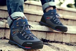 Фирменные трекинговые ботинки (синие)  BAIDENG 01