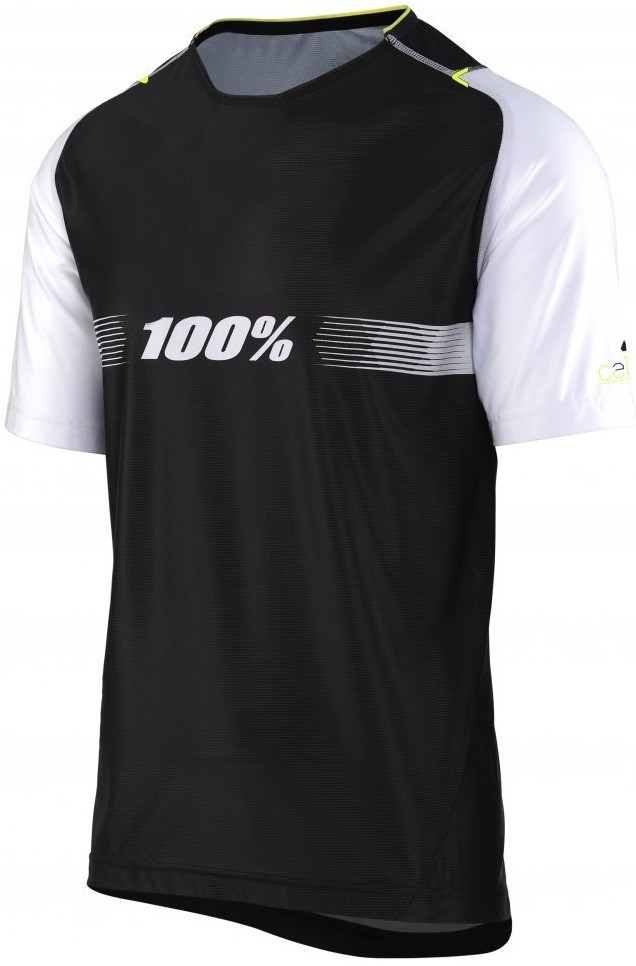 Вело джерси Ride 100% Celium SOLID Jersey [Black], L