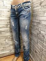 Женские джинсы AMN со стразами