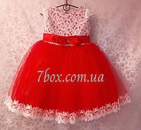 Нарядное детское платье бальное Эльза (красное) Возраст 3-4года Опт и Розница, фото 1