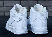 Зимние кроссовки Nike Air Force Brown с мехом, мужские кроссовки. ТОП Реплика ААА класса., фото 3