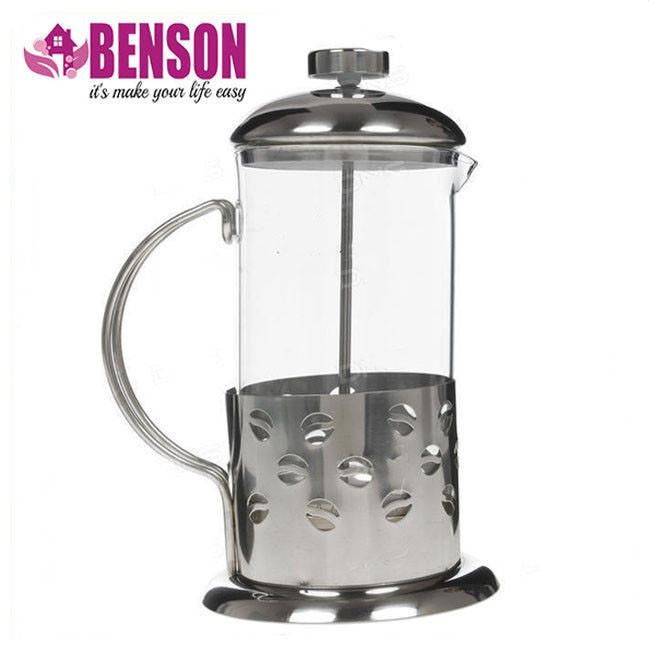 Френч-пресс для заваривания Benson BN-172 800 мл нержавеющая сталь