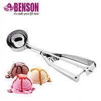 Ложка для мороженого шариками механическая из нержавеющей стали Benson BN-169 5 см