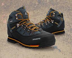 Фирменные трекинговые ботинки (сине-желтые) BAIDENG 02