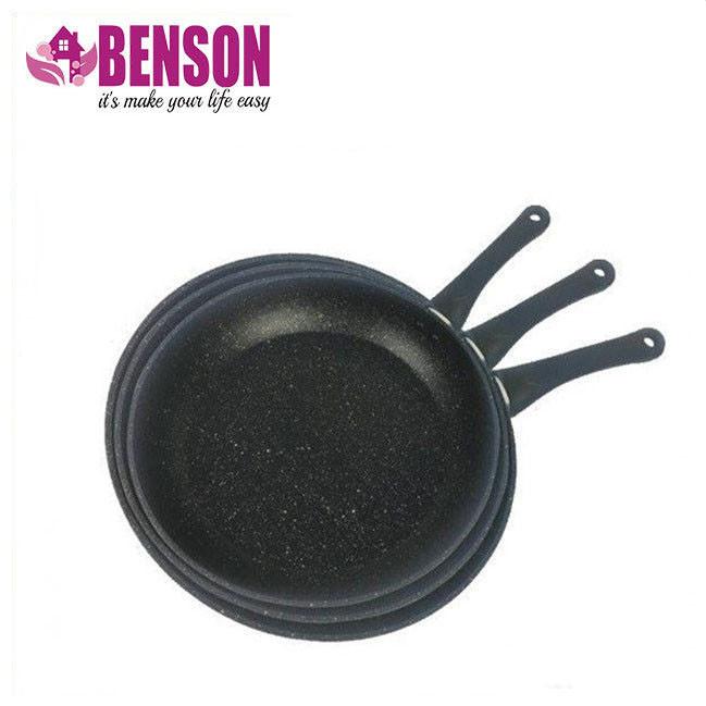 Набор сковородок с антипригарным мраморным покрытием Benson BN-506 24 см, 26 см, 28 см