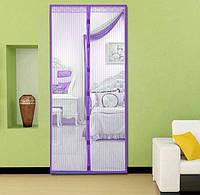 Москитная сетка на магнитах на дверь Magic Mesh фиолетовый