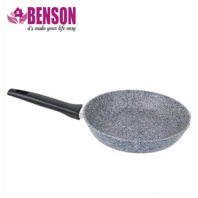 Сковорода с антипригарным гранитным покрытием Benson BN-510 22*5 см | Индукция | Бакелитовая ручка