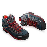 Фирменные трекинговые ботинки (сине-оранжевые) BAIDENG 03