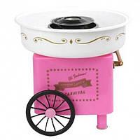 Аппарат для приготовления сладкой ваты на колесах Carnival NY-C450 Pink (11721)