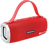 Портативная Bluetooth колонка HOPESTAR H24 (Bluetooth, MP3, AUX, USB) Red, фото 1
