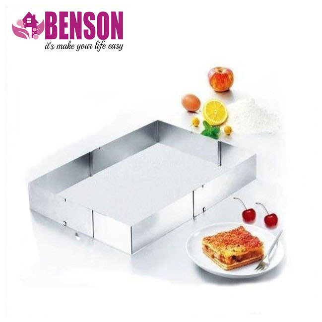 Квадратная форма для выпечки из нержавеющей стали Benson BN-1039