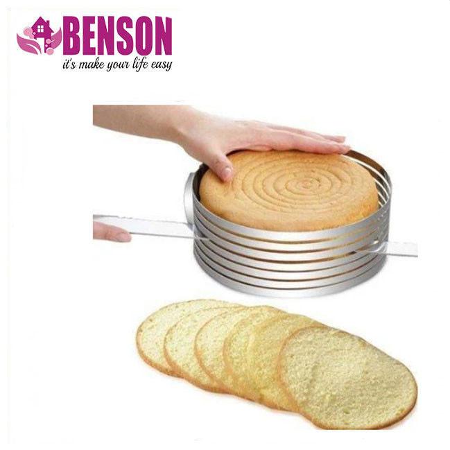 Форма — кольцо раздвижное для ровной нарезки коржей из нержавеющей стали 6 отсеков Benson BN-1035