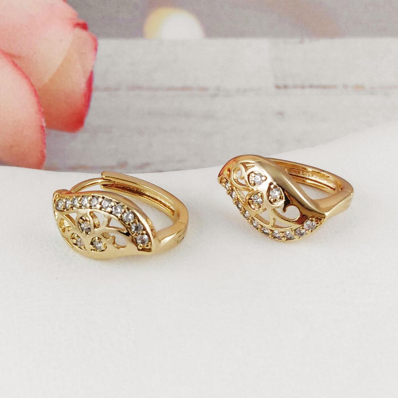 Серьги Xuping Jewelry Ева медицинское золото, позолота 18К английский замок. А/В 4496