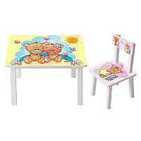 Детский столик со стульчиком BSM2K-34d, Мишки