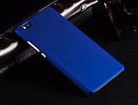 Чехол накладка бампер для Huawei P8 LITE синий