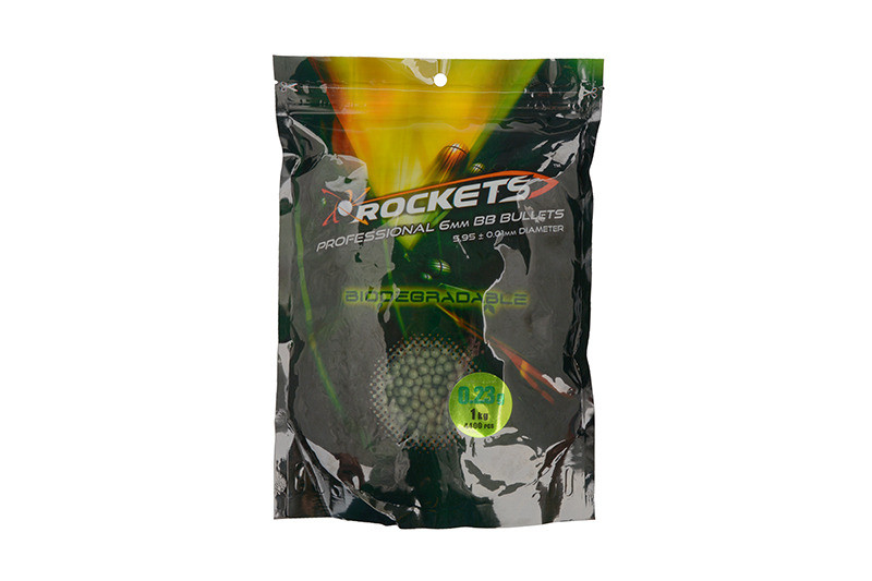 Кулі Rockets Professional BIO 0,23g BBs 1kg Dark Green