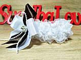 Свадебная подвязка Stile. Цвет шоколад., фото 2