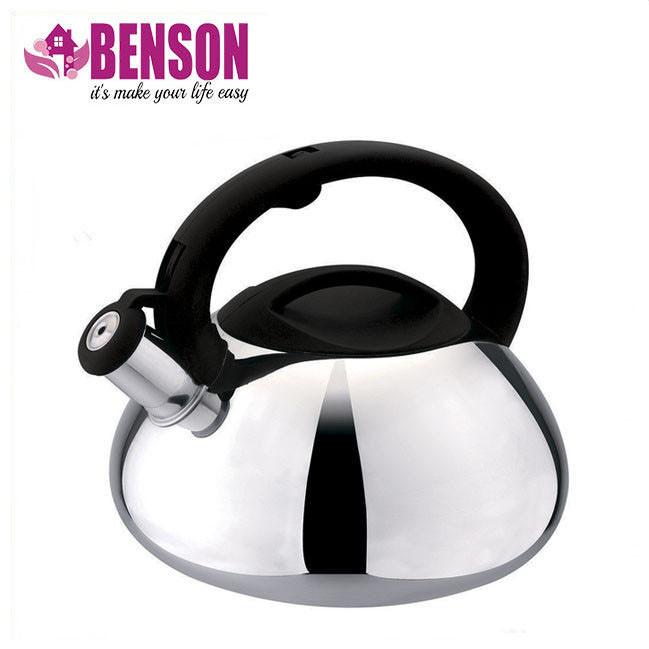 Чайник со свистком из нержавеющей стали Benson BN-701 3 л | Нейлоновая ручка | Индукция