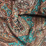 Губернаторский  1504-17, павлопосадский платок (шаль) из уплотненной шерсти с шелковой вязаной бахромой, фото 10