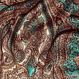 Губернаторский  1504-17, павлопосадский платок (шаль) из уплотненной шерсти с шелковой вязаной бахромой, фото 9