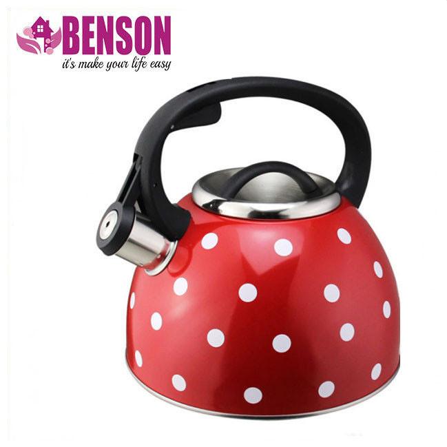 Чайник со свистком из нержавеющей стали Benson BN-706 3 л   Нейлоновая ручка   Индукция