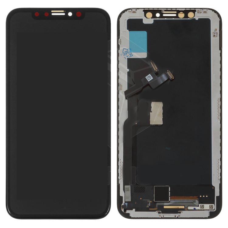 Дисплейный модуль (дисплей и сенсор) для iPhone X, черный, (TFT)