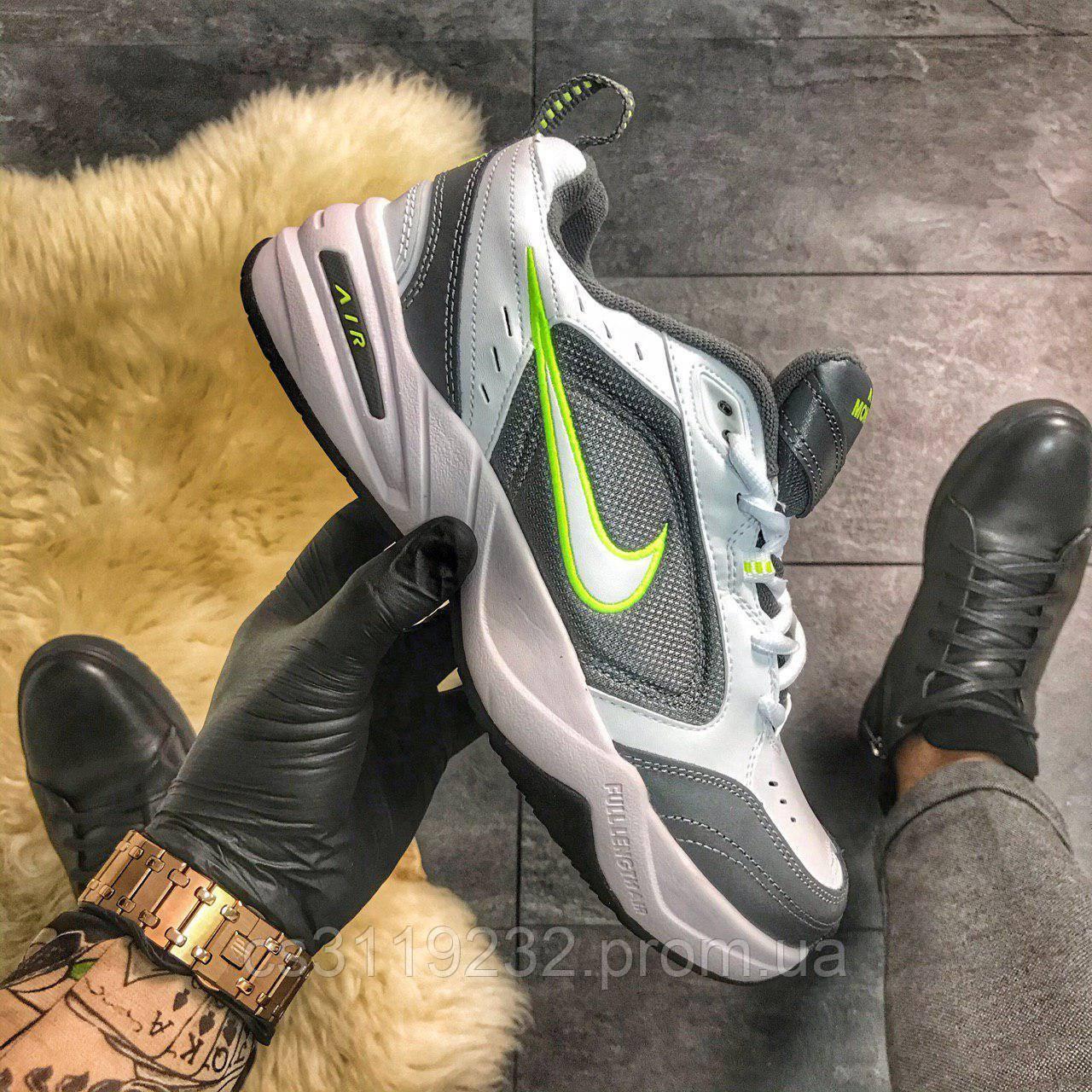 Чоловічі кросівки Nike Air Monarch IV Green Grey (біло-сірий)