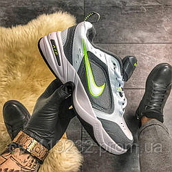 Мужские кроссовки Nike Air Monarch IV Grey Green (бело-серый)