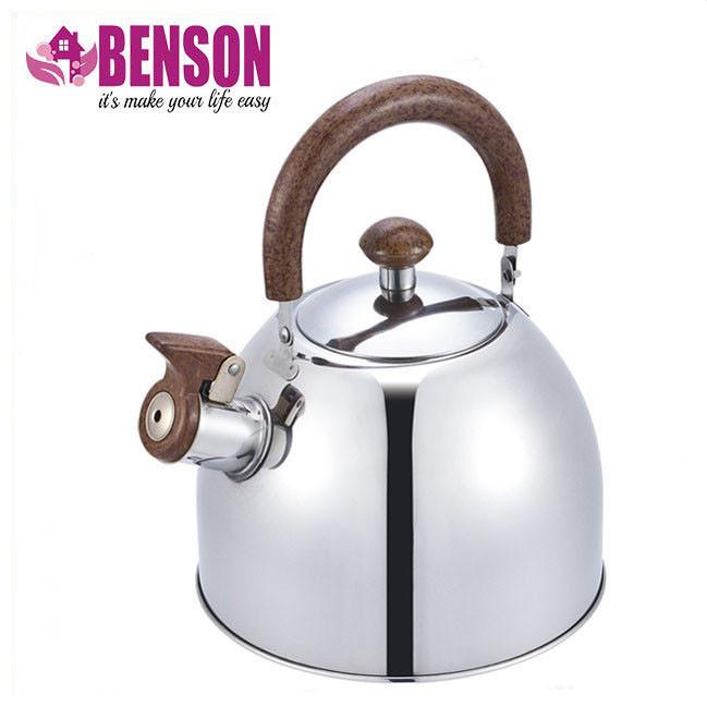 Чайник со свистком из нержавеющей стали Benson BN-712 3 л   Нейлоновая ручка   Индукция