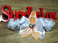 Свадебная подвязка Stile. Цвет персиковый.