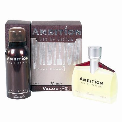 Мужская парфюмерная вода  Ambition pour homme 70ml+deo150ml. Rasasi.
