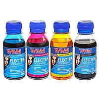 Комплект чернил WWM ELECTRA для Epson Водорастворимые 4х100г B/C/M/Y (ELECTR.SET42) универсальные