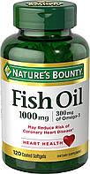 Nature`s Bounty Omega 3 Fish oil 1000mg 120 softgel, фото 1