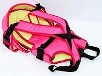 Рюкзак кенгуру, лежа, малиновый, предназначен для детей с двухмесячного возраста - 181644