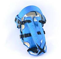 Рюкзак кенгуру, лежа, синий, предназначен для детей с двухмесячного возраста - 181649
