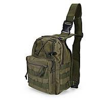 Рюкзак сумка тактическая военная Oxford 600D 6L через плечо Green