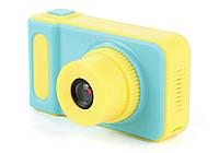 Детский цифровой фотоаппарат Smart Kids Camera V7 Синий с желтым