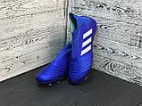 Бутсы Adidas Predator 18+FG/адидас предатор без шнурков, фото 4