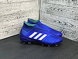 Бутсы Adidas Predator 18+FG/адидас предатор без шнурков, фото 5