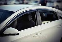 Комплект 4 шт. ветровиков дефлекторов на боковые окна HYUNDAI SONATA 2015- с хромом